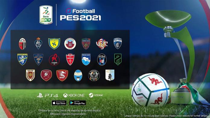 Serie B in esclusiva su PES 2021